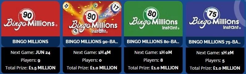 Dove Bingo Bingo Millions