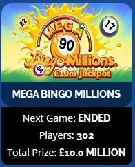 Dove Bingo Mega Bingo Millions