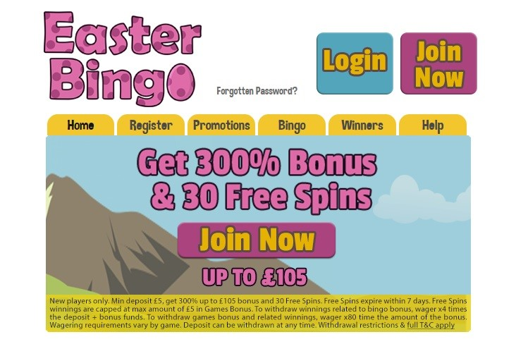 Easter Bingo Website