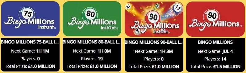 Empire Bingo Bingo Millions