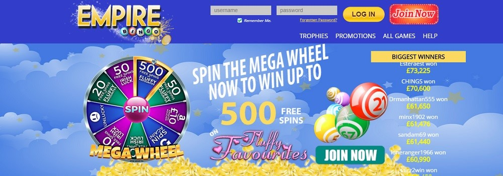 Empire Bingo Website