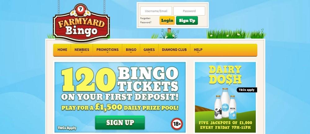 Farmyard Bingo Website