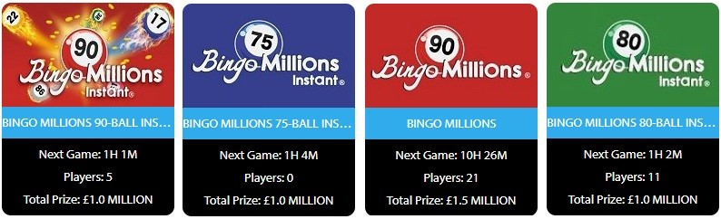 Fever Bingo Bingo Millions