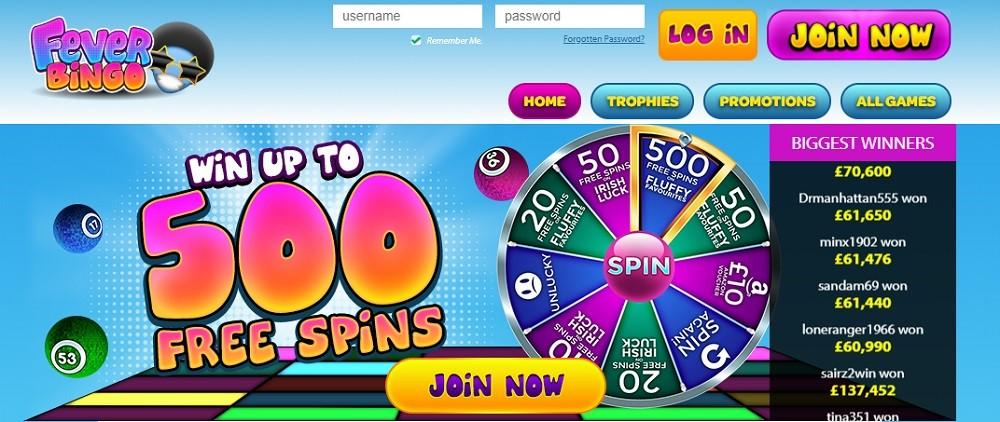 Fever Bingo Website