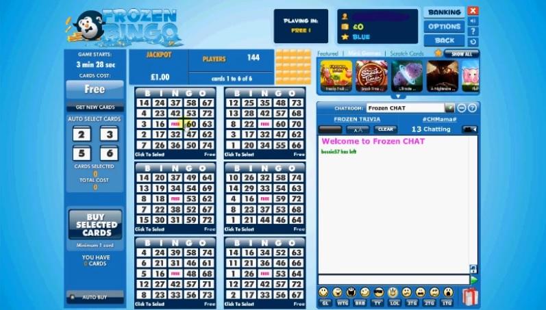 Frozen Bingo Game in Progress