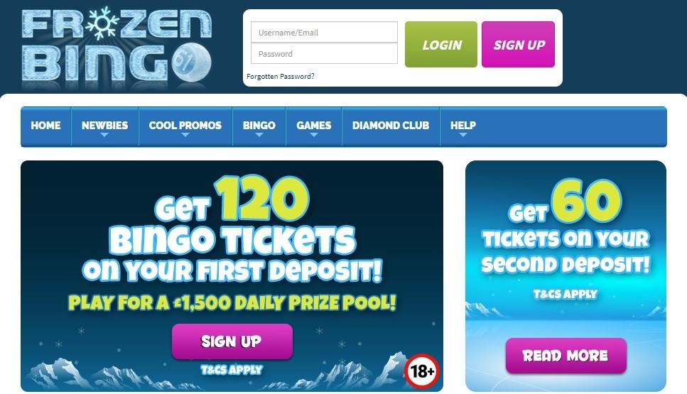 Frozen Bingo Website