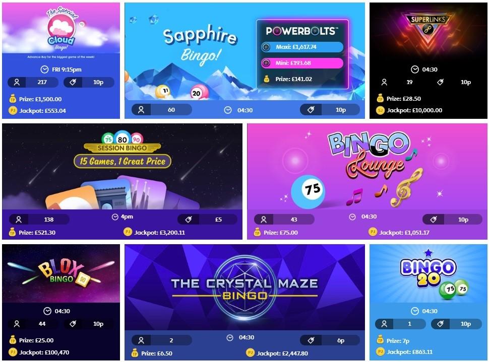 Jackpot Joy Bingo Lobby