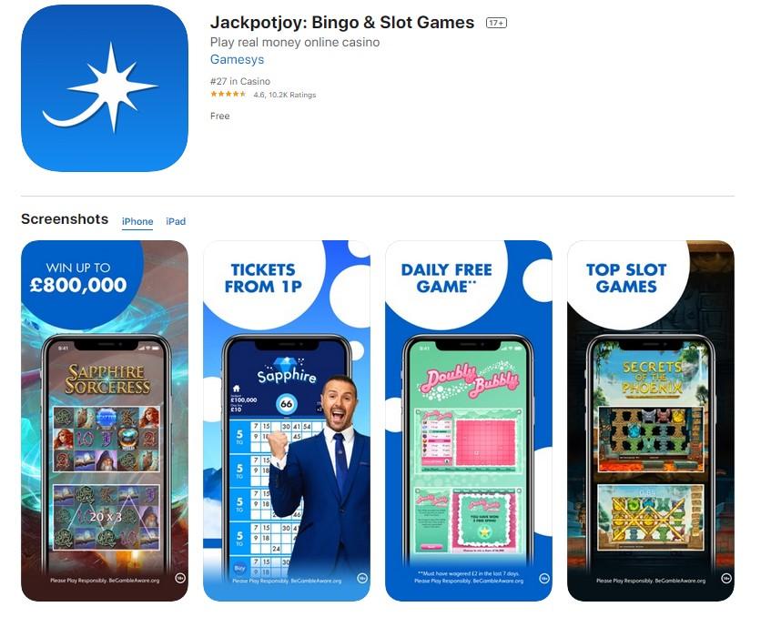 Jackpot Joy Bingo Mobile App