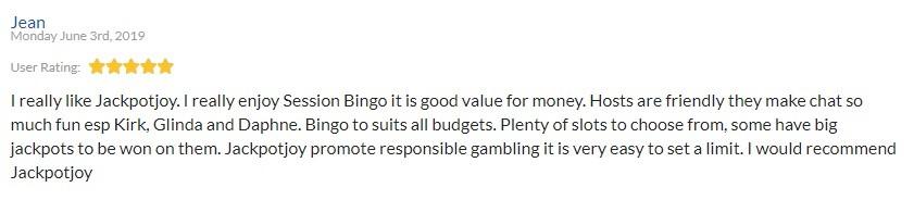 Jackpot Joy Bingo Player Review 5