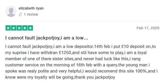 Jackpot Joy Bingo Player Review 7