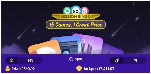 Jackpot Joy Bingo Session Bingo