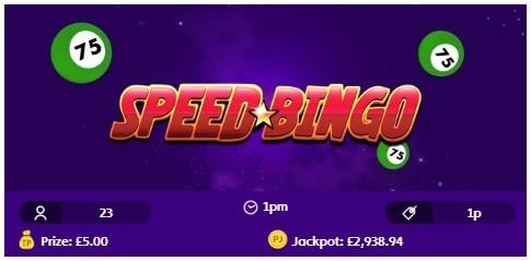 Jackpot Joy Bingo Speed Bingo