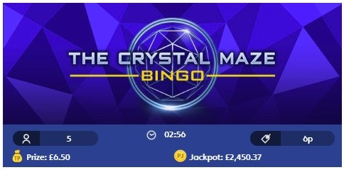 Jackpot Joy Bingo The Crystal Maze Bingo