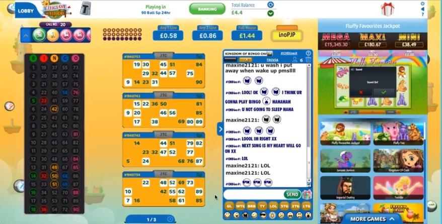 Kingdom of Bingo Game in Progress