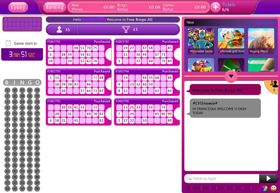 Lippy Bingo Game in Progress