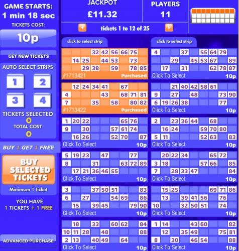 Lovehearts Bingo Game in Progress