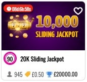 Lucky Ladies 20k Sliding Jackpot