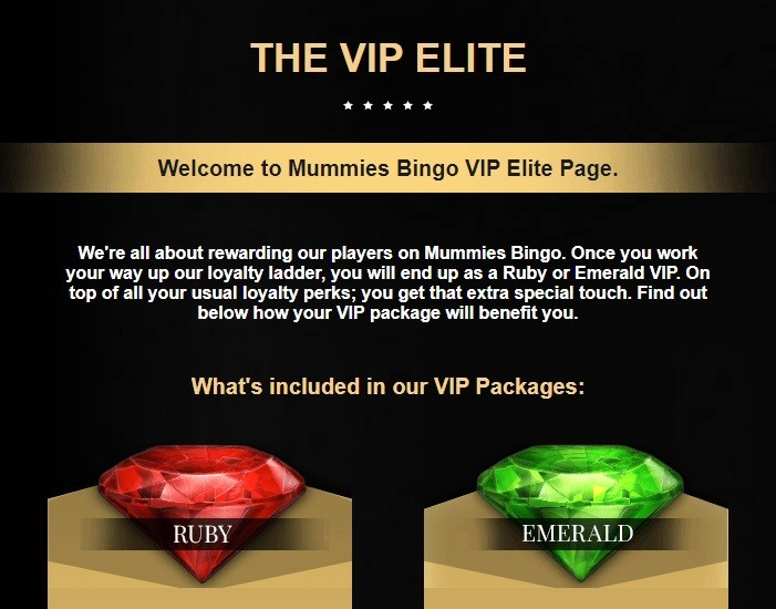 Mummies BIngo Rewards Program