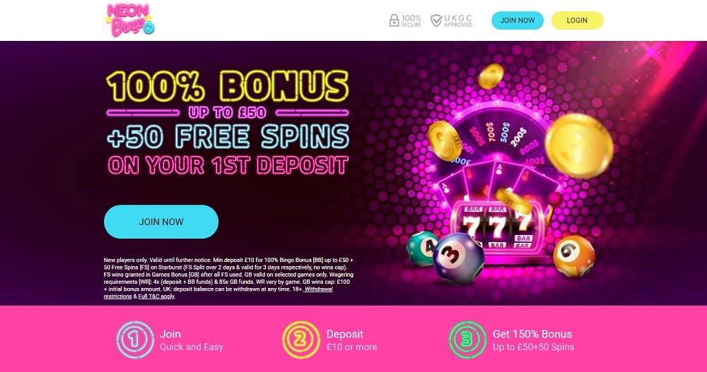 Neon Bingo Website