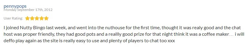 Nutty Bingo Player Review 4