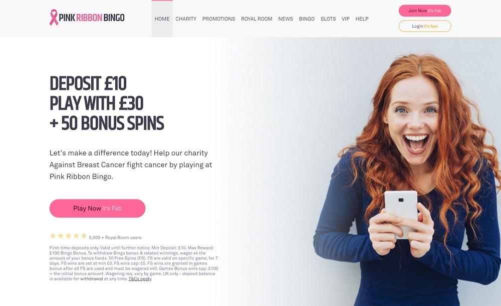 Pink Ribbon Bingo Website