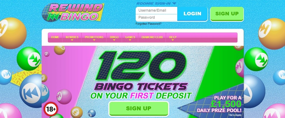 Rewind Bingo Website