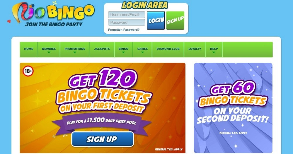 Rio Bingo Website