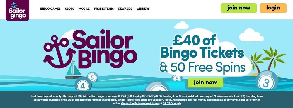 Sailor Bingo Website