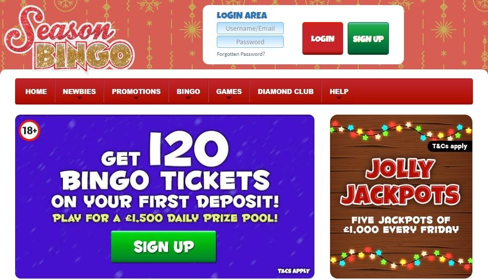 Season Bingo Website