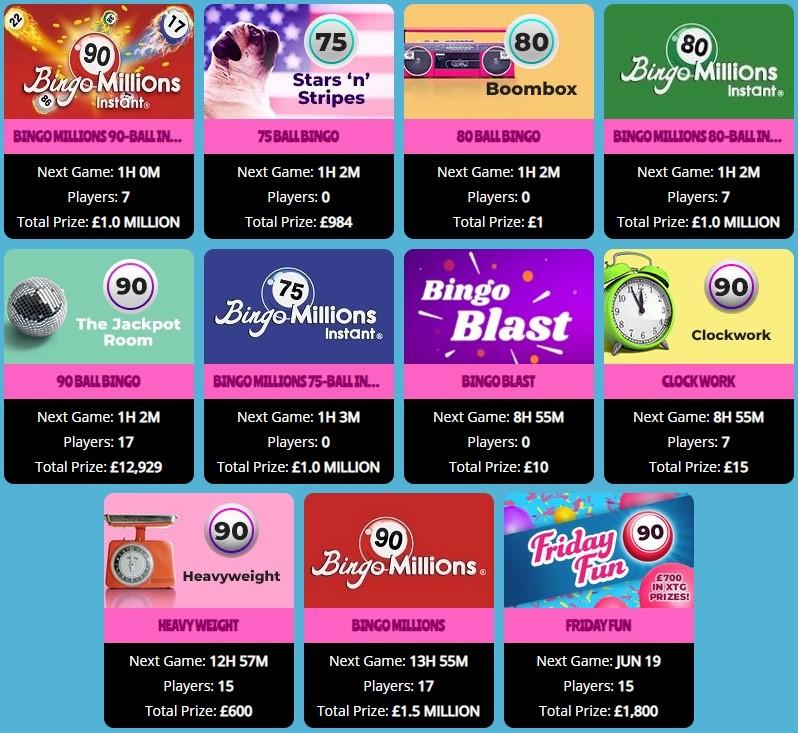 Showreel Bingo Lobby