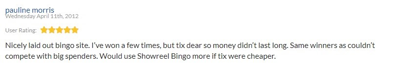 Showreel Bingo Player Review 5