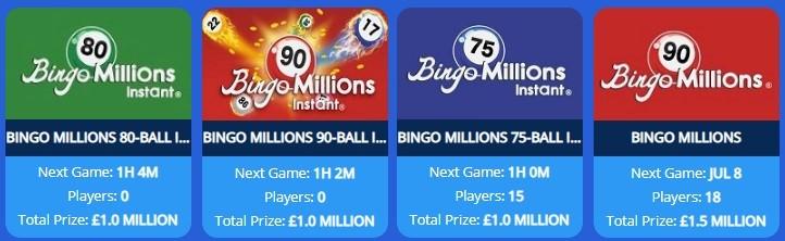 Spice Bingo Bingo Millions