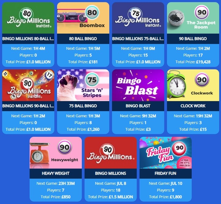 Spice Bingo Lobby