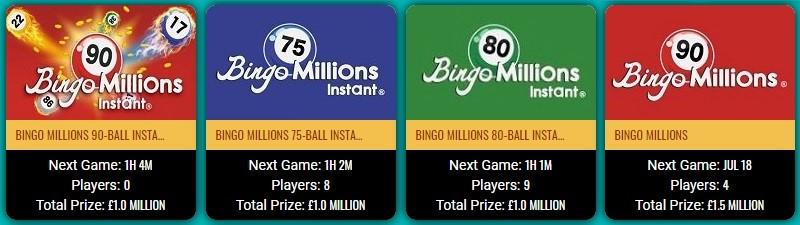 Tea Time Bingo Bingo Millions