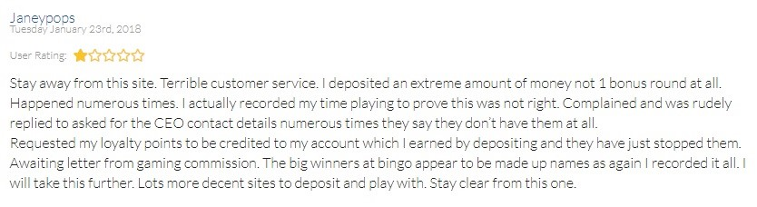 Tea Time Bingo Player Review 2