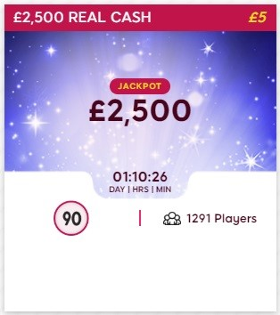 Tip Top Bingo £2,500 Real Cash
