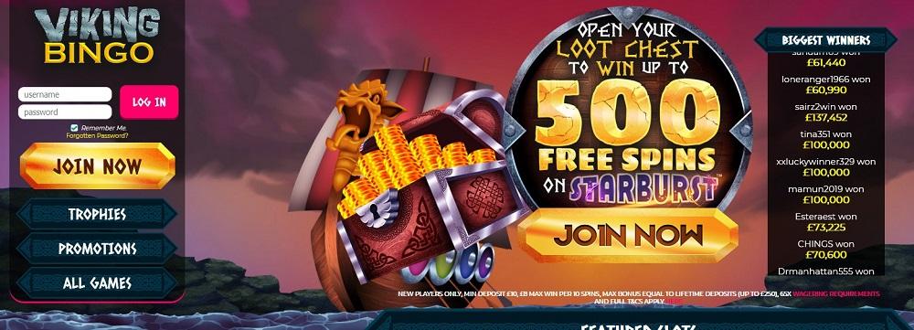 Viking Bingo Website