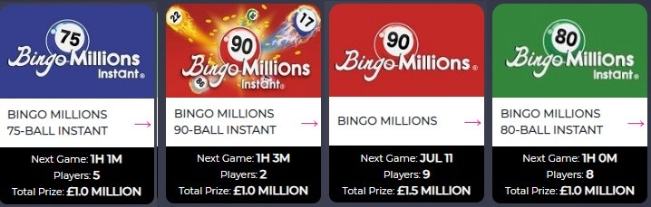 Volcano Bingo Bingo Millions