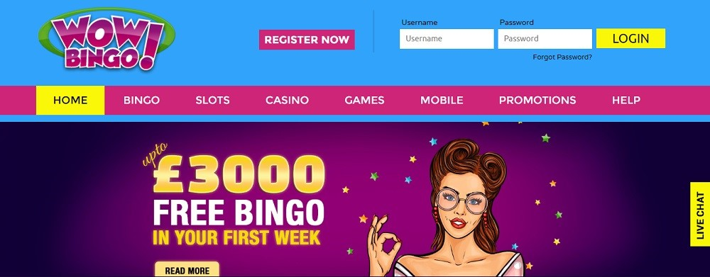 WOW Bingo Website