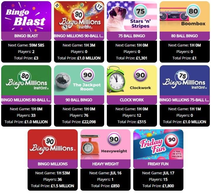 WTG Bingo Lobby