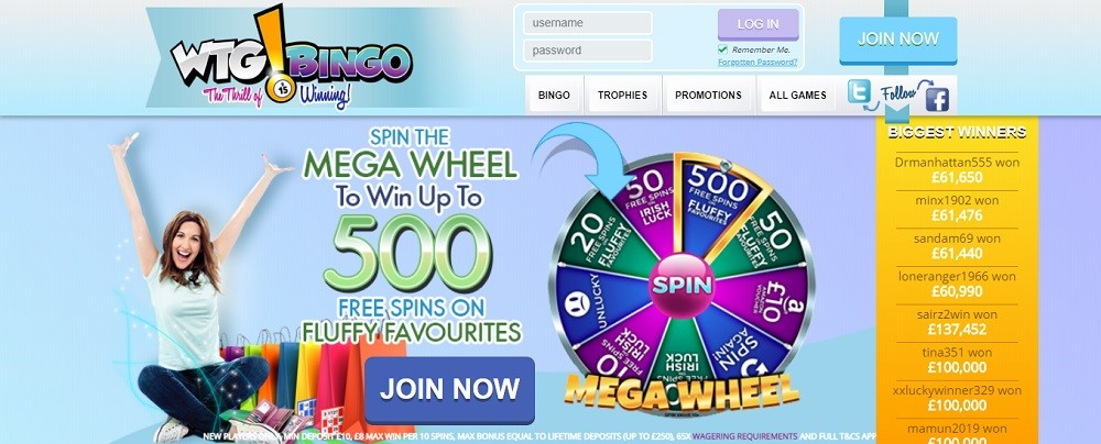 WTG Bingo Website