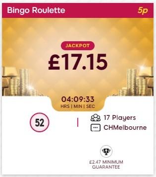 We Want Bingo Bingo Roulette