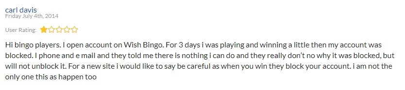 Wish Bingo Player Review 3