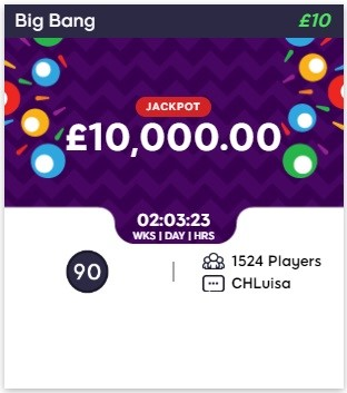 Zinger Bingo Big Bang