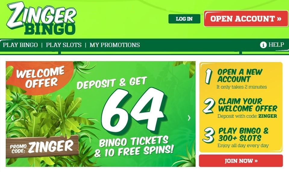 Zinger Bingo Website