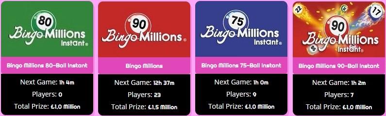 Zingo Bingo Bingo Millions