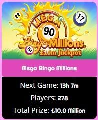 Zingo Bingo Mega Bingo Millions