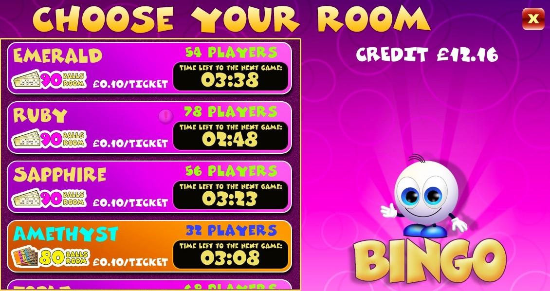 mFortune Bingo Lobby 2