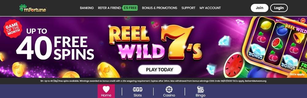 mFortune Bingo Website