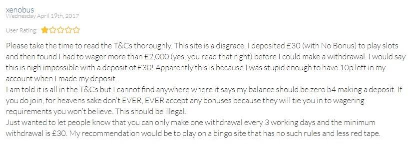 Bingo Magix Customer Review 3